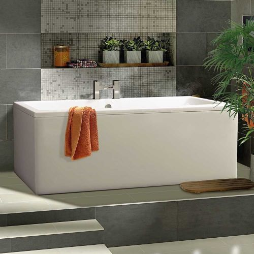 Berg Cubic 1800 x 800mm No Tap Holes Standard Double Ended Bath
